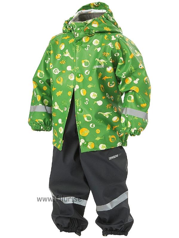 Didriksons Regnställ Slaskeman grönprint
