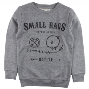 Small Rags Sweattröja Ansikte Grå OEKO