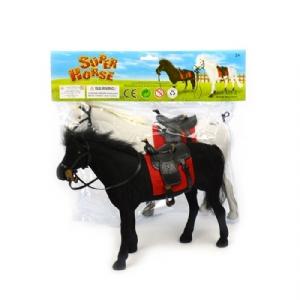 Barbiehäst med sadel - Vit eller Svart