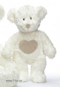 Teddykompaniet Teddy Cream Nalle Hjärta