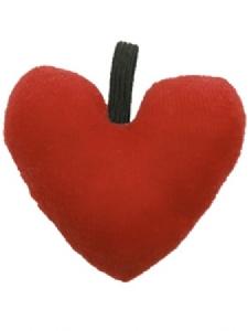 Mjuk Skallra i Velour Hjärta