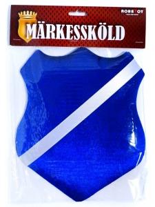 Märkessköld Blå 25 cm