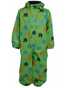CeLaVi RegnOverall grön m elefanter