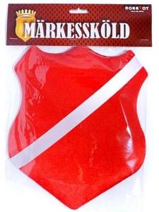 Märkessköld Röd 25 cm