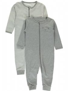 Helpyjamas nitNightsuit 2-pack grå/randi