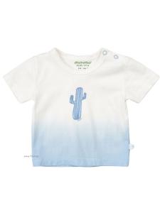 Minymo T-shirt Kim74 EKO vit m kaktus