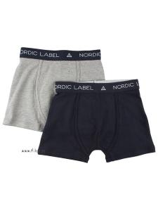Boxerkalsong 2-pack EKO grå/marinblå