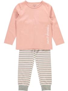 Pyjamas nmfNightset rosa/randig noos