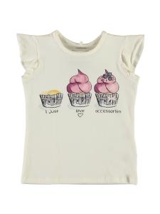 Top Ferdanna vit med Cupcakes