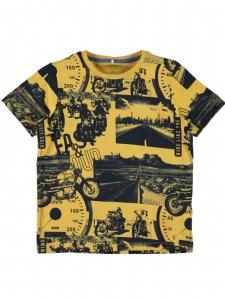 Name It Gul T-shirt HJALTE Motorcyklar EKO