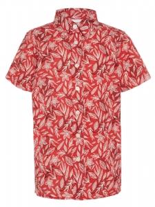Kortärmad Skjorta KARL Röd Blommig babc742029053