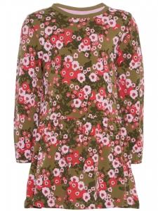 NMFKARI Klänning Grön Rosa Blommor EKO