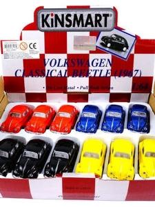 Mini Folkabil i metall - Classic Volkswagen Beetle...
