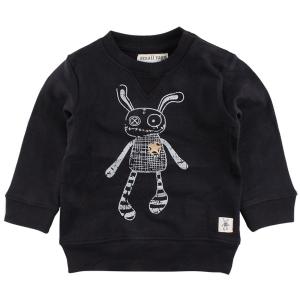 Small Rags Svart Sweatshirt med Trasdocka