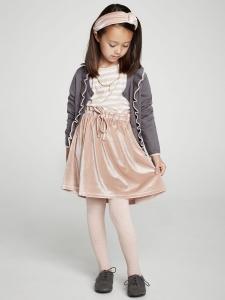 Creamie Kjol Velour - Rosa