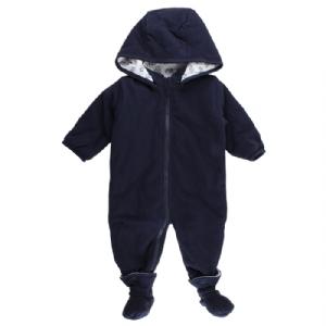 Babyoverall med tossor - Marinblå