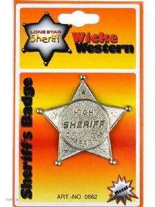 Sheriff Stjärna Metall