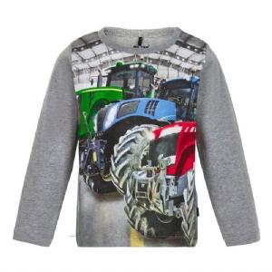 T-shirt LS Traktor Stora Däck 86-122 cl