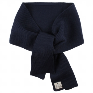 Stickad Halsduk 100% Wool - Marinblå
