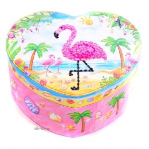 Smyckeskrin med musik - Dansande Flamingo